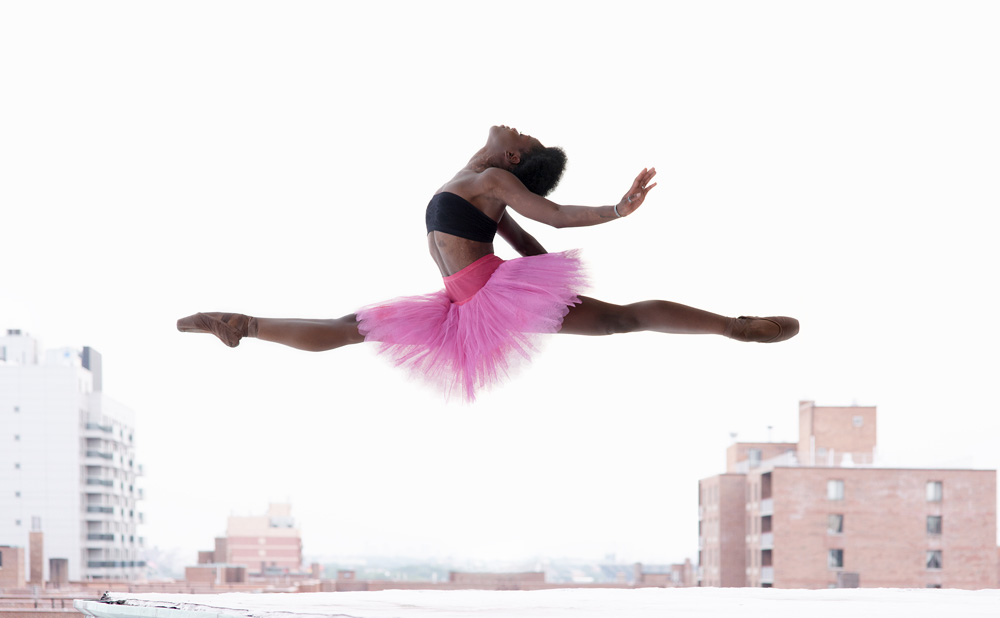 Ballerina Michaela DePrince whose story and image I found beautiful. Find your own relevance in this image.