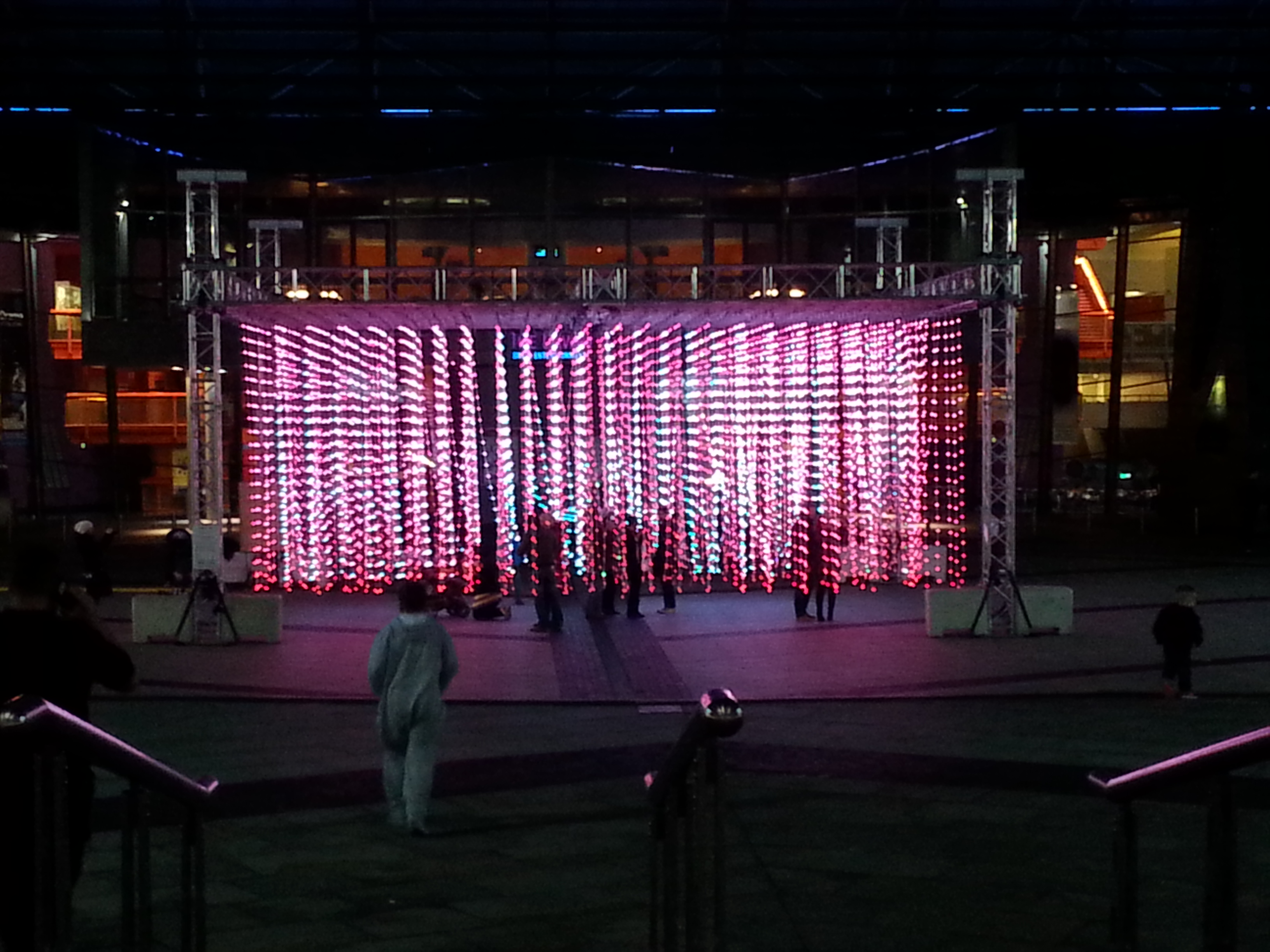 Aeolian Light Installation at The Quays, Salford