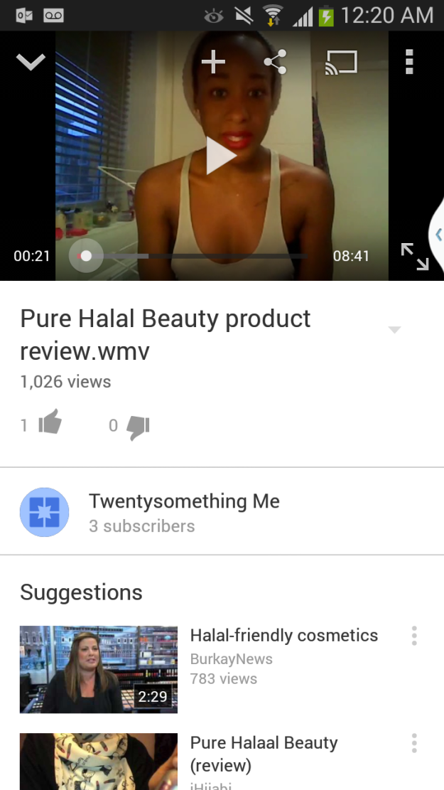 Pure Halal Beauty Review TwentysomethingMe