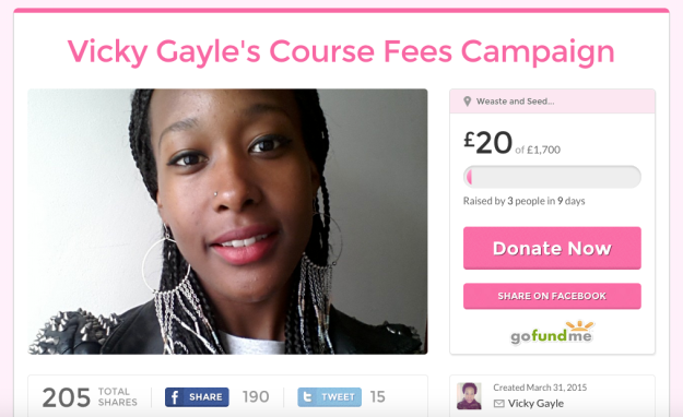 Vicky G Course Fees Campaign
